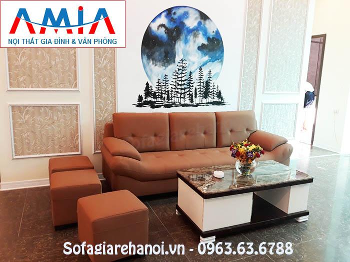 Hình ảnh cho bộ ghế sofa văng đẹp hiện đại được bài trí trong sảnh nhà hàng