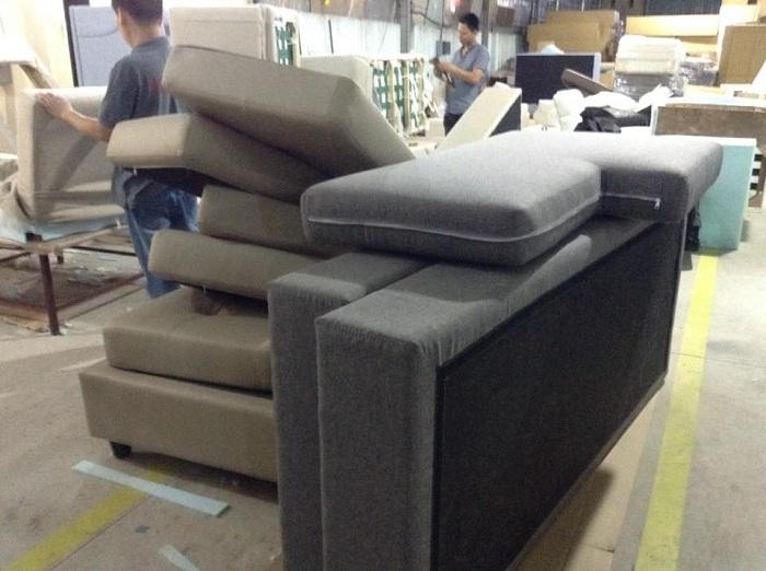 Hình ảnh xưởng làm sofa nỉ chữ L giá rẻ theo yêu cầu tại Hà Nội
