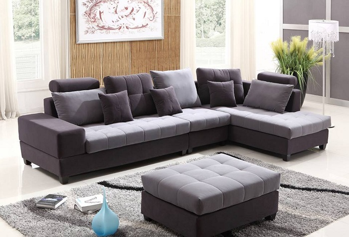 Hình ảnh cho mẫu ghế sofa nỉ chữ L đặt làm theo yêu cầu tại Nội thất AmiA