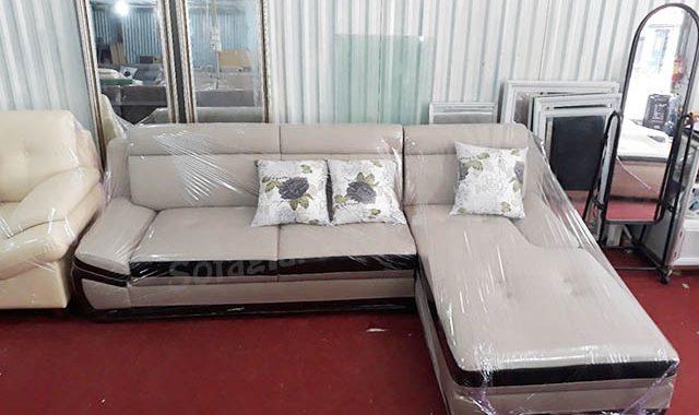 Hình ảnh mẫu ghế sofa da góc chữ L đẹp hiện đại cho phòng khách gia đình
