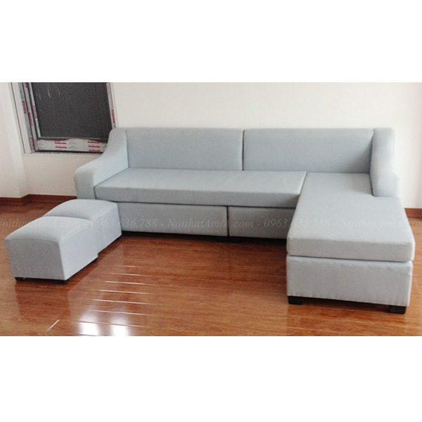 Hình ảnh đại diện ghế sofa nỉ đẹp chữ L hiện đại và sang trọng