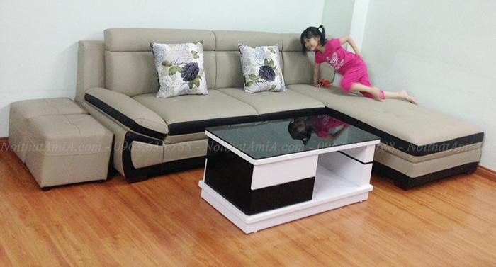 Hình ảnh Bài trí mẫu sofa da đẹp cho phòng khách gia đình Việt