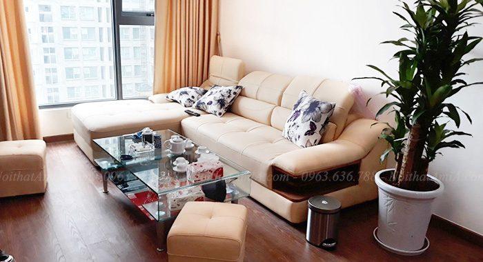 Hình ảnh Bộ bàn ghế sofa da phòng khách đẹp hiện đại và sang trọng