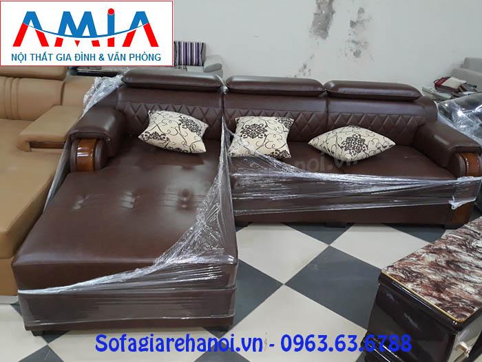 Hình ảnh bộ ghế sofa da góc chữ L với phong cách thiết kế hiện đại cùng mẫu mã và kiểu dáng mới lạ