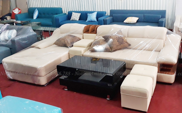 Hình ảnh Mẫu ghế sofa da đẹp tại Tổng kho Nội thất AmiA