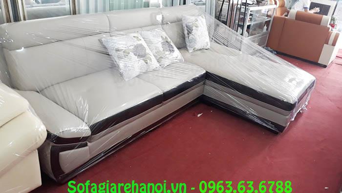 Hình ảnh bộ sofa da chữ L sang trọng và hiện đại là sự lựa chọn hoàn hảo