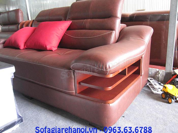 Hình ảnh điểm độc đáo trong thiết kế của bộ ghế sofa da góc chữ L