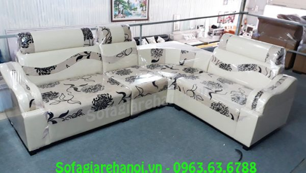 Hình ảnh bộ sofa góc giá rẻ da pha nỉ đẹp hiện đại, sang trọng và trẻ trung