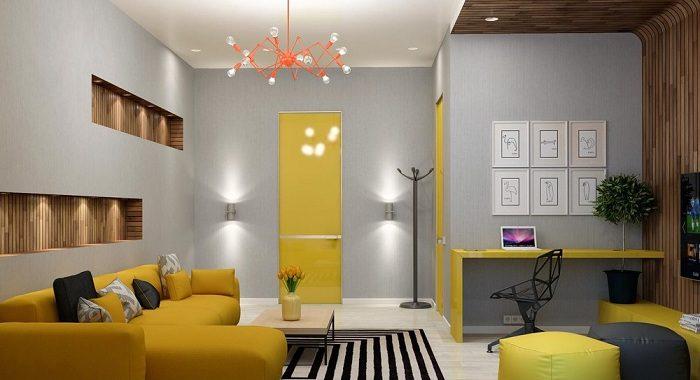 Hình ảnh bộ ghế sofa góc chữ L khi được bài trí trong không gian căn phòng khách đẹp gia đình