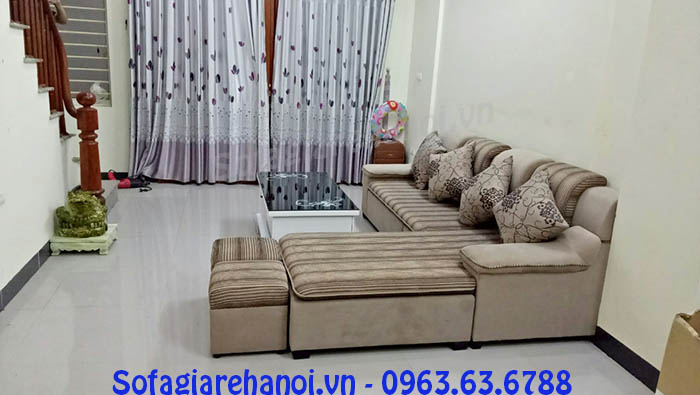 Hình ảnh sofa nỉ chữ L đẹp cho không gian căn phòng khách hiện đại gia đình