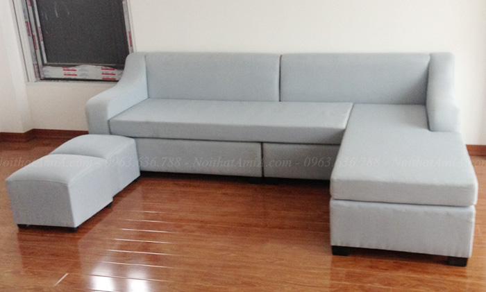 Hình ảnh Ghế sofa nỉ đẹp hình chữ L cho căn phòng khách đẹp