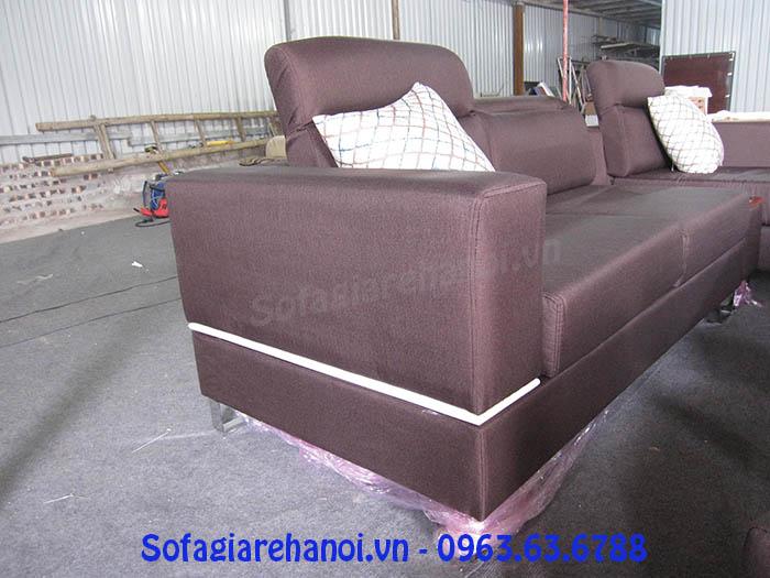 Hình ảnh sofa nỉ góc chữ L đẹp hiện đại và sang trọng cho không gian căn phòng khách đẹp gia đình