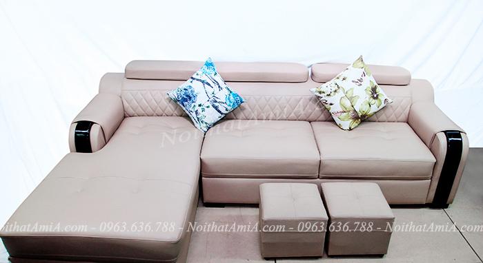 Hình ảnh mẫu sofa da đẹp chụp tại Tổng kho nội thất AmiA