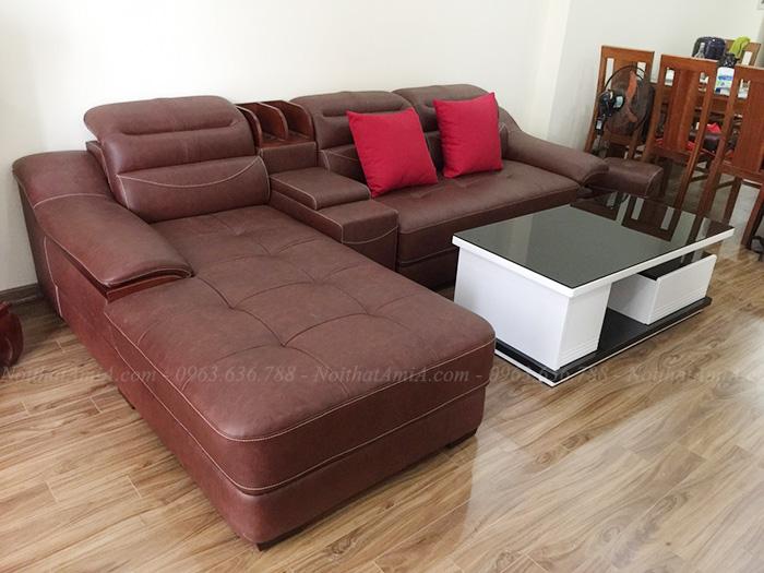 Hình ảnh Mẫu sofa da đẹp cho nhà đẹp, nhà xinh