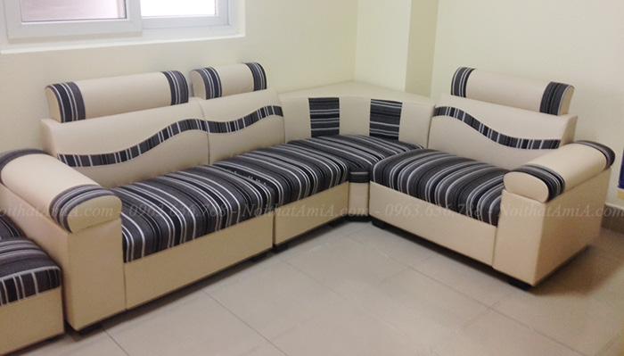 Hình ảnh Mẫu sofa đẹp giá rẻ da pha nỉ