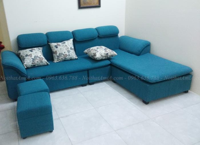 Hình ảnh Mẫu sofa nỉ đẹp cho căn phòng khách đẹp gia đình