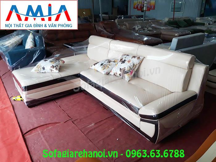 Hình ảnh mẫu sofa da góc chữ L sang trọng và thời thượng