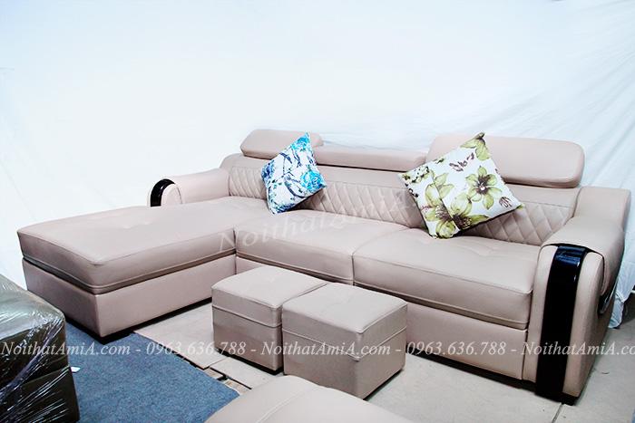 Hình ảnh Sofa da đẹp chữ l tại AmiA cho căn phòng khách đẹp
