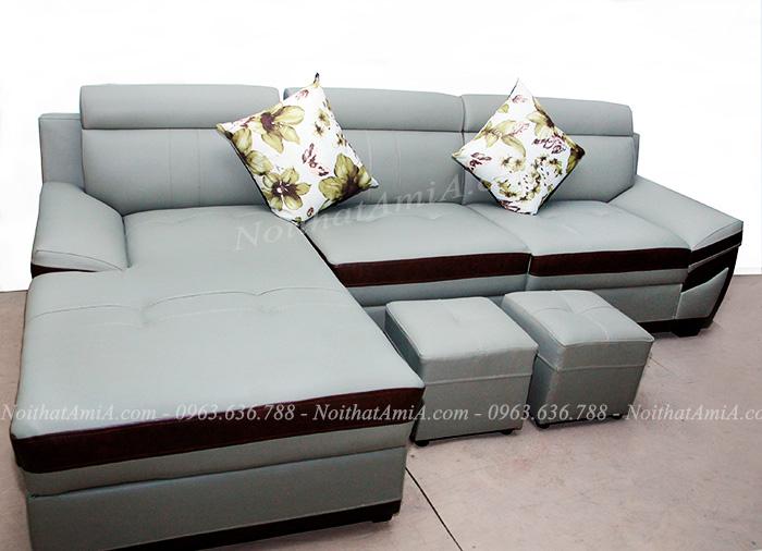 Hình ảnh Bộ ghế sofa da đẹp hiện đại tại Tổng kho Nội thất AmiA với nhiều màu sắc cho bạn lựa chọn