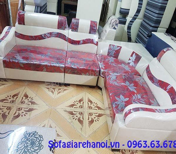 Hình ảnh mẫu ghế sofa da góc giá rẻ da pha nỉ đẹp hiện đại và sang trọng