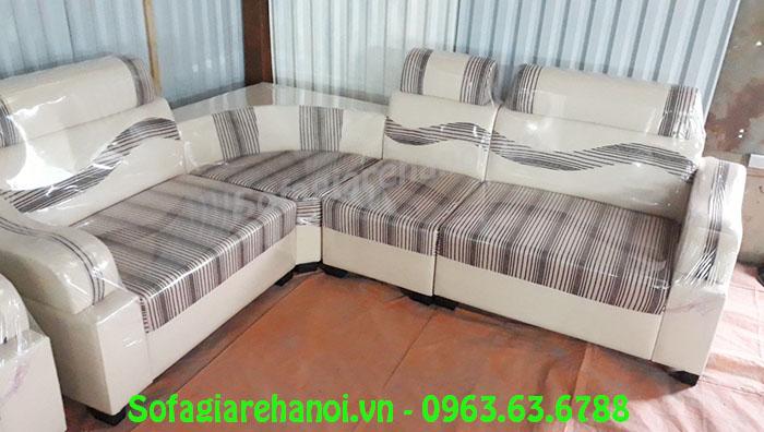 Hình ảnh ghế sofa da pha nỉ giá rẻ AmiA SFD136 đẹp hiện đại