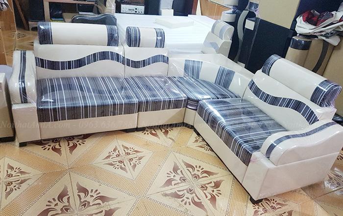 Hình ảnh Mẫu sofa đẹp rẻ hà nội với chất liệu da pha nỉ