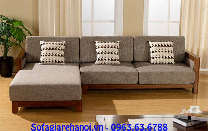 Hình ảnh mẫu bàn ghế gỗ hình chữ L đẹp hiện đại cho căn phòng khách đẹp gia đình