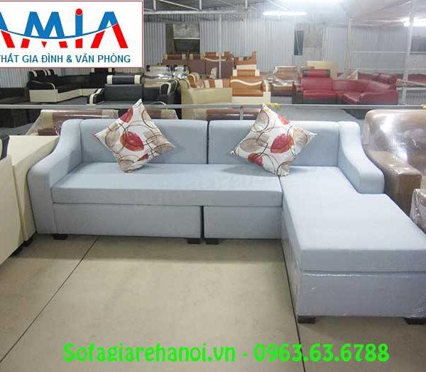 Hình ảnh bộ sofa nỉ góc chữ L đẹp, sang trọng và trẻ trung