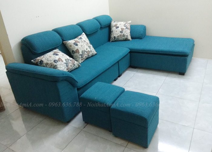 Hình ảnh Sofa nỉ phòng khách đẹp với gam màu đặt làm theo yêu cầu