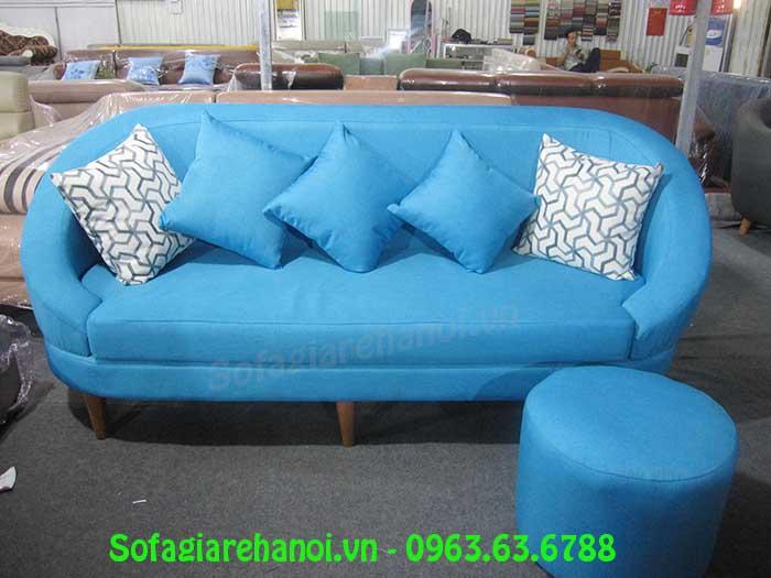 Hình ảnh bộ ghế sofa văng nỉ 1m8 AmiA SFN135 là sự lựa chọn hoàn hảo cho phòng khách nhỏ