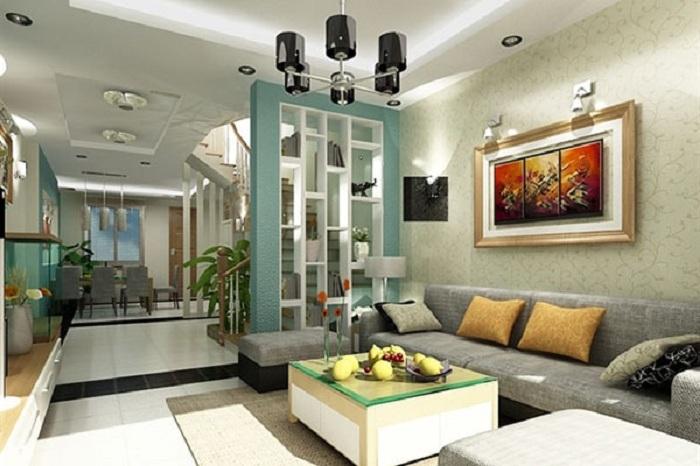 Hình ảnh mẫu bàn ghế phòng khách nhà ống nhỏ hiện đại và sang trọng