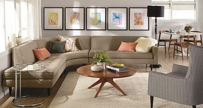 Hình ảnh mẫu bàn ghế sofa phòng khách nhỏ với thiết kế ôm trọn góc phòng