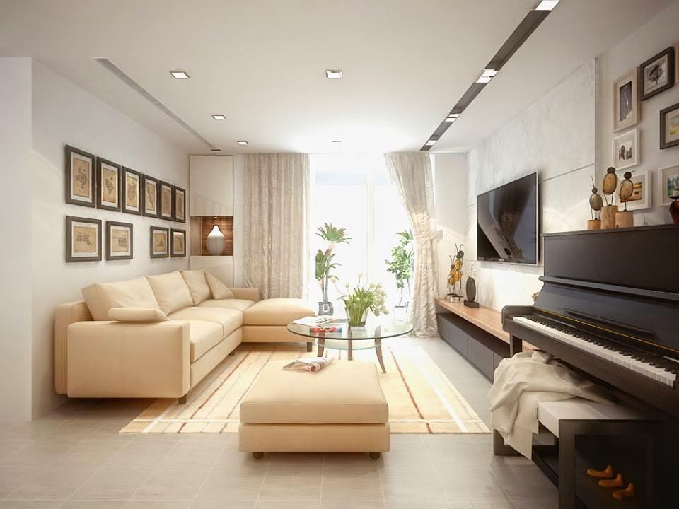 Hình ảnh mẫu sofa góc chữ L khi được bài trí trong phòng khách nhà chung cư