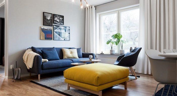 Hình ảnh mẫu ghế sofa văng đẹp khi được bài trí trong không gian căn phòng khách nhỏ