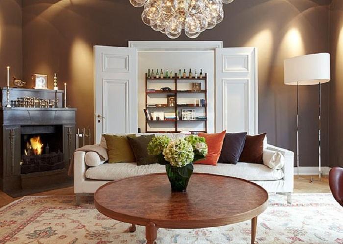 Hình ảnh bàn ghế sofa phòng khách nhỏ với thiết kế dạng ghế văng dài