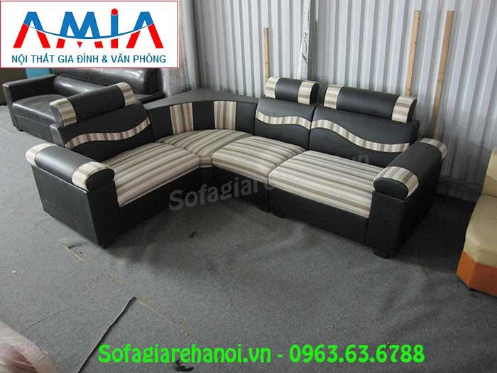 Hình ảnh mẫu ghế sofa góc giá rẻ da pha nỉ đẹp hiện đại và sang trọng