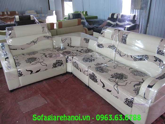 Hình ảnh sofa da pha nỉ đẹp hiện đại cho căn phòng khách đẹp gia đình