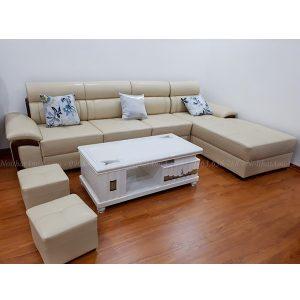 Hình ảnh đại diện cho mẫu sofa đẹp da chữ L hiện đại và sang trọng