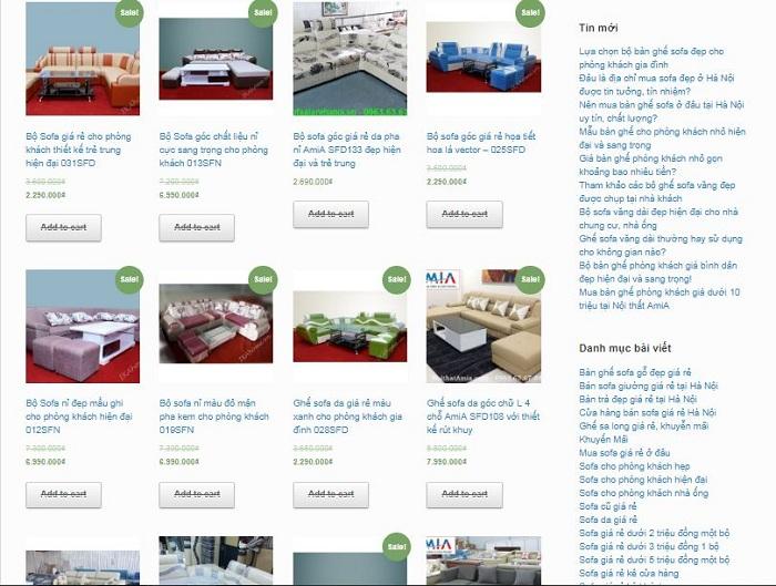 Hình ảnh các mẫu bàn ghế phòng khách giá rẻ tại Tổng kho Nội thất AmiA