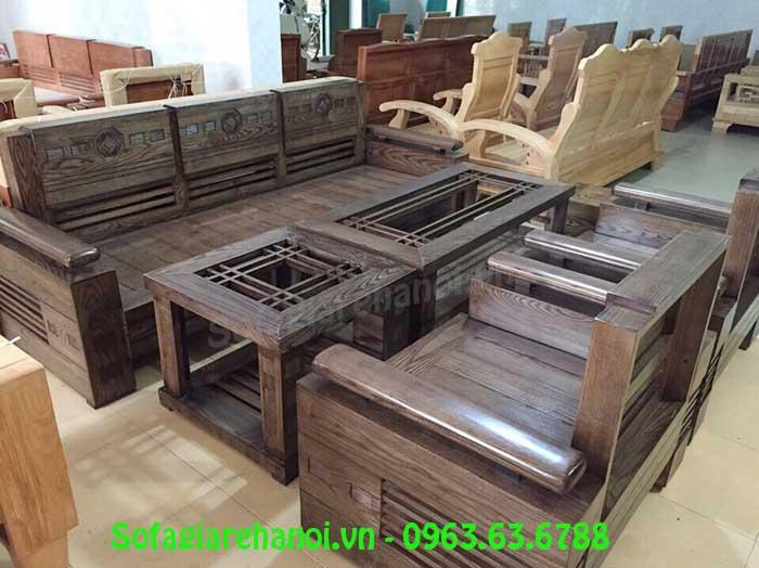 Hình ảnh bộ bàn ghế gỗ phòng khách đẹp sang trọng và đẳng cấp