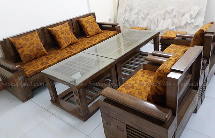 Hình ảnh Bộ bàn ghế gỗ phòng khách đẹp cho nhà đẹp