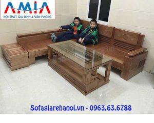 Hình ảnh bộ ghế sofa gỗ chữ L đẹp hiện đại thật sang trọng và đẳng cấp