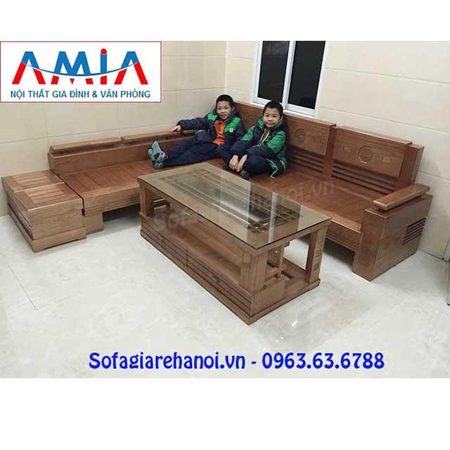 Ghế Sofa Gỗ Chữ L Amia Sfg016 Hiện đại Sang Trọng Va đẳng Cấp
