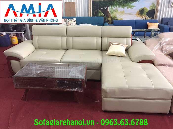 Hình ảnh bộ ghế sofa da góc chữ L 3 chỗ là sự lựa chọn hoàn hảo và tuyệt vời