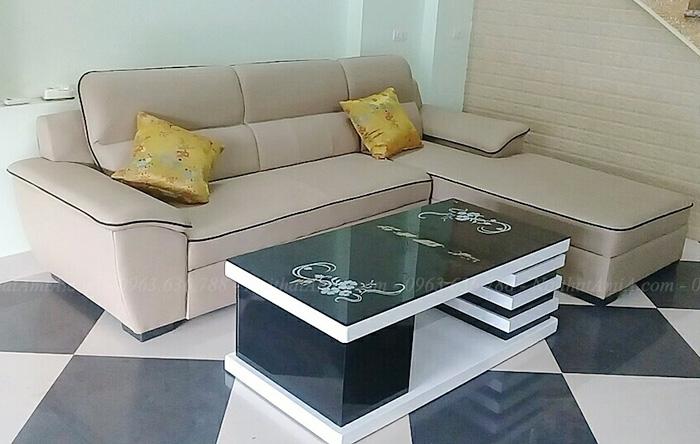Hình ảnh Mẫu ghế sofa đẹp da hình chữ L cho nhà đẹp