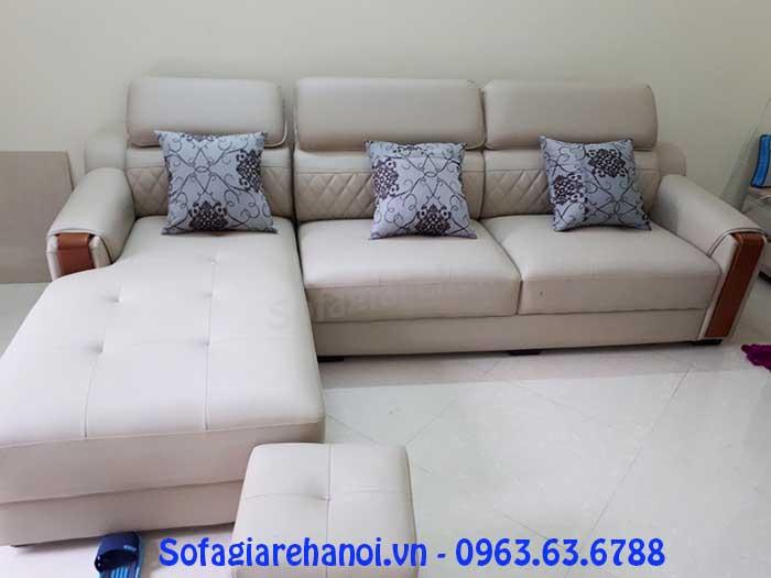 Hình ảnh mẫu ghế sofa da góc chữ L đẹp hiện đại và sang trọng