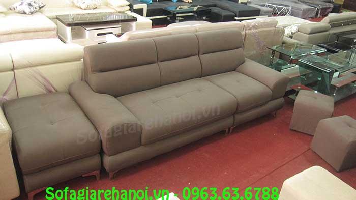 Hình ảnh bộ ghế sofa văng da đẹp hiện đại cho không gian căn phòng khách gia đình