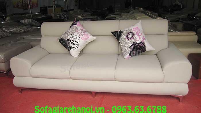 Hình ảnh mẫu ghế sofa văng da 3 chỗ đẹp hiện đại và sang trọng