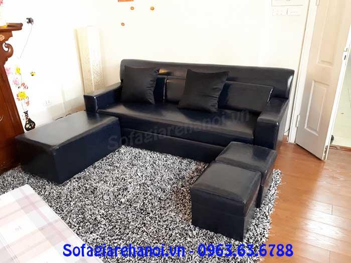 Hình ảnh mẫu ghế sofa văng đẹp màu đen thật sang trọng và đẳng cấp