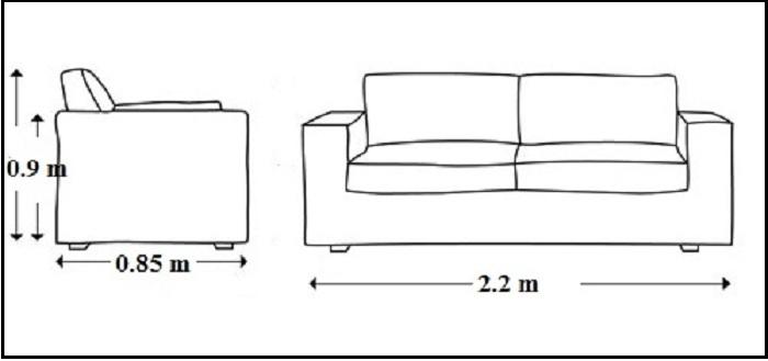 Hình ảnh kích thước chuẩn ghế sofa văng đẹp trên thị trường nội thất hiện nay